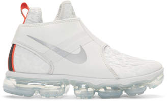 Nike Grey and White Air VaporMax Chukka Sneakers