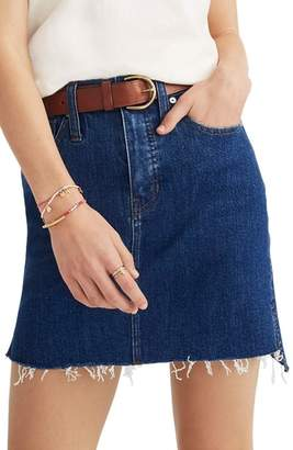 Madewell Straight Step Hem Stretch Denim Skirt
