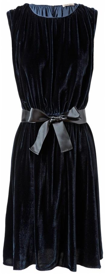 Tomas Maier Draped velvet dress