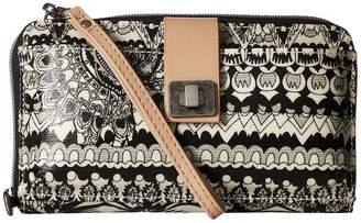 Sakroots Artist Circle Large Smartphone Crossbody Clutch Handbags