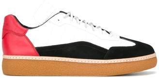 Alexander Wang colour-blocked lace-up trainers