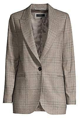 Peserico Women's Check Wool Blazer