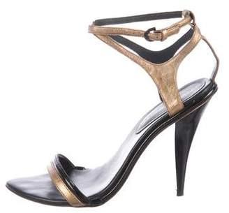 Rebecca Minkoff Metallic Ankle Strap Sandals