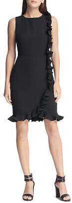 Donna Karan Ruffled Sleeveless Sheath Dress