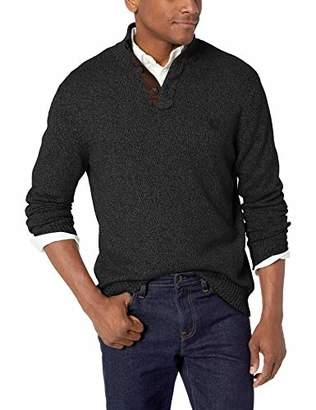 4430b5f00ced91 Chaps Men s Classic Fit Twist Button Mock Sweater