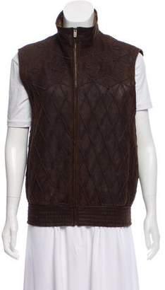 Fendi Shearling Patterned Vest