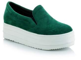 BalaMasa Ladies Platform Solid Slip-Resistant Urethane Walking Shoes - 7 B(M) US