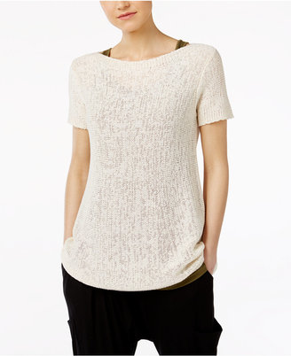 Eileen Fisher Organic Cotton-Blend Boat-Neck Sweater $188 thestylecure.com