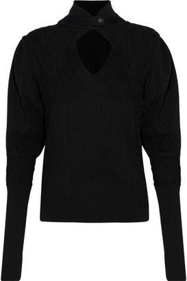 Pierre Balmain Cutout Cable-Knit Sweater