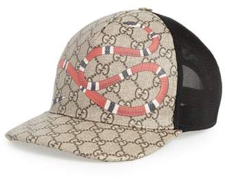Gucci Kingsnake Canvas Baseball Cap