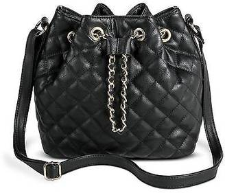 Women's Quilted Bucket Faux Leather Handbag with Chain Detail - Mossimo; $34.99 thestylecure.com