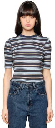 Levi's Striped Cotton & Cashmere Jersey T-Shirt