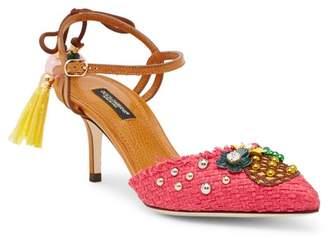 Dolce & Gabbana Pineapple Slingback Pump