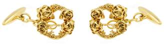 Lee Renee Rose Halo Cufflinks Gold