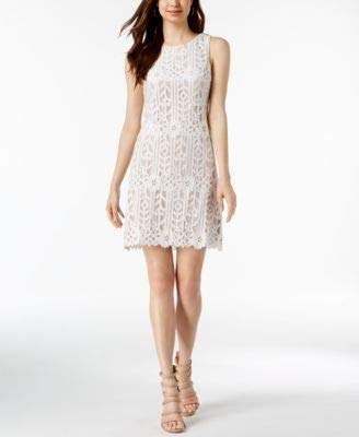 Jessica Howard Women's Sleeveless Lace Shift Dress