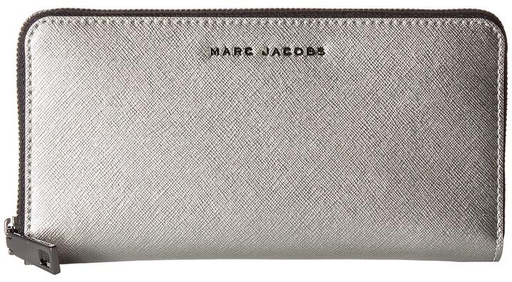 Marc JacobsMarc Jacobs - Saffiano Tricolor Metallic Standard Continental Wallet Wallet Handbags