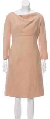 Alberta Ferretti Long Sleeve Midi Dress