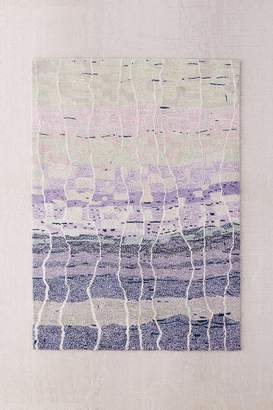 Abstract Blocks Wool Shag Rug