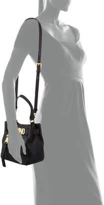 Moschino Glossy Pebbled Tote Bag