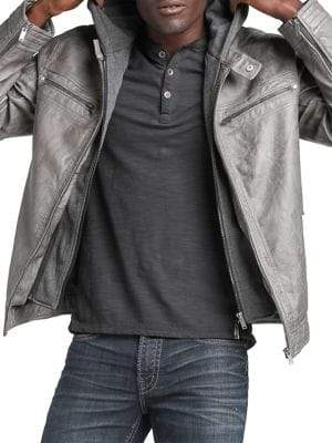 Silver Jeans Co Fredric Faux Leather Jacket
