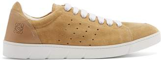 Loewe Round-toe suede low-top trainers