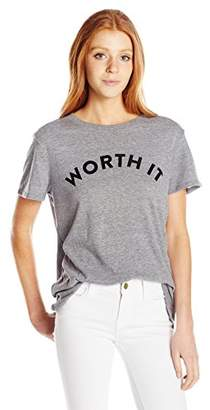 Sub_Urban RIOT Women's Worth It Loose Fit Graphic Tee $44 thestylecure.com