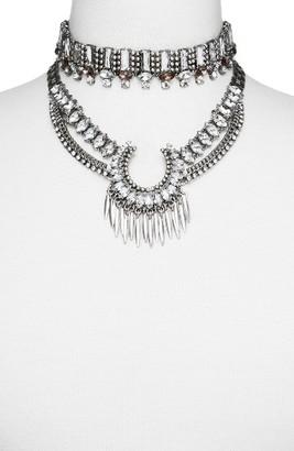 Women's Baublebar Pandora Choker Bib Necklace $58 thestylecure.com