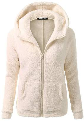 Changeshopping Blouse Women Jacket,Winter Hooded Sweater Zipper Warm Coat Cotton Changeshopping