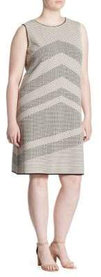 Nic+Zoe Plus Plus Knit Mantra Knee-Length Dress