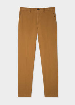 Paul Smith Men's Tapered-Fit Tan Stretch-Cotton Chinos