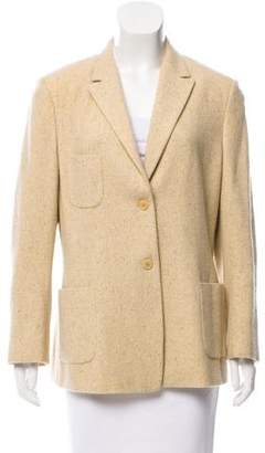 Luciano Barbera Long Sleeve Peak-Lapel Blazer