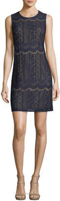 Adrianna Papell Sleeveless Lace Shift Dress