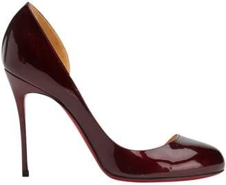 fce39f7c66961 Christian Louboutin Burgundy Patent leather Heels