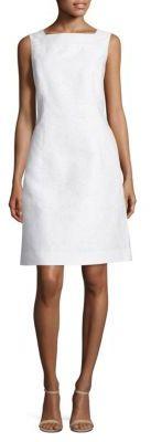 Lafayette 148 New York Jojo Cotton and Silk Jacquard Dress $548 thestylecure.com
