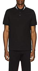 Neil Barrett Men's Lightning-Bolt Cotton Piqué Polo Shirt - Black