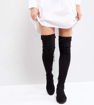 Asos KEEP UP PETITE Flat Over The Knee Boots