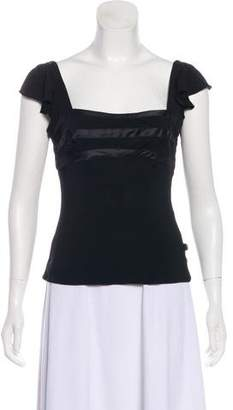 Just Cavalli Accented Short-Sleeve Top w/ Tags