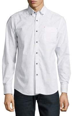 Report Collection Slim Cotton Casual Button-Down Shirt