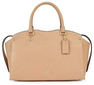 Coach Drew Camel Leather Top Handle Bag