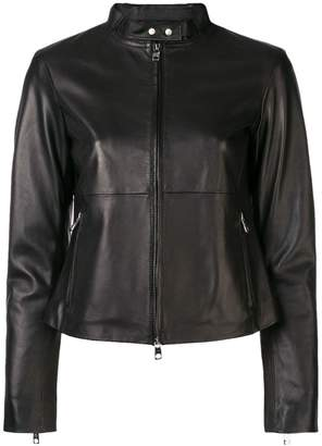 Emporio Armani fitted biker jacket