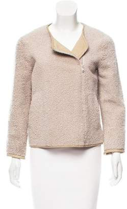 Brunello Cucinelli Shearling Asymmetrical Jacket
