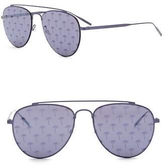Tomas Maier 54mm Printed Aviator Sunglasses