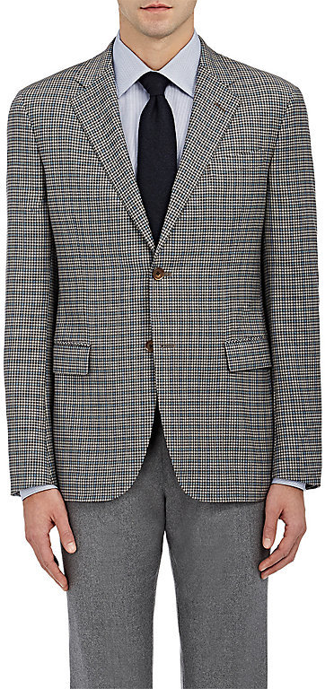 Barneys New YorkBarneys New York BARNEYS NEW YORK MEN'S CHECKED TRAVELLER WOOL TWO-BUTTON SPORTCOAT