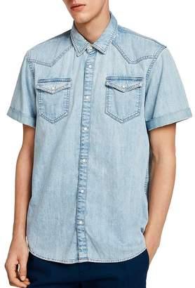 Scotch & Soda Short-Sleeve Slim Fit Denim Western Shirt