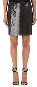 Paco Rabanne Women's Metal Mesh Miniskirt-Black