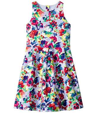 Janie and Jack Floral Fit and Flare Dress (Toddler/Little Kids/Big Kids)