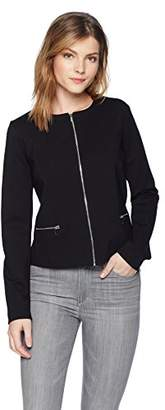 Three Dots Women's Ponte Tight Short Jacket