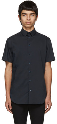 Giorgio Armani Blue Slim-Fit Plain Shirt