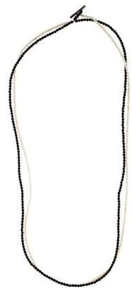 Brunello Cucinelli Onyx & Crystal Convertible Necklace