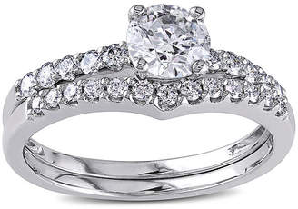 MODERN BRIDE 1-1/7 CT. T.W. Diamond 14K White Gold Bridal Set